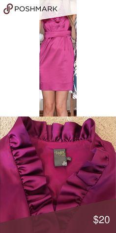 Summer Dress Jewel-toned dark pink.  Silky feel. Taylor Dresses