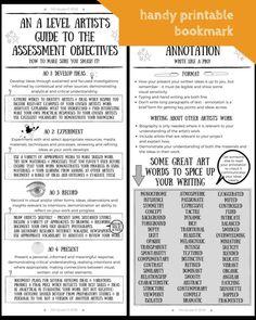 A level exam resources: student support materials for 2018 ⋆ felt-tip-pen Art Education Projects, Art Education Lessons, Art Lessons, Education Quotes, Education Clipart, School Projects, Art Projects, High School Art, Middle School Art