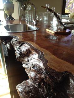 Kitchen Cousins Rustic Redwood Bar