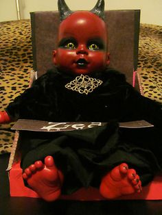 OOAK Horror Art Doll Devil Baby Zedd Halloween Goth | eBay