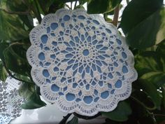 Crochet, heat resistant pad, I have crocheted two doilies, stiched them together , inside is special , heat resistant sponge