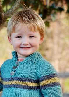 Asa, little boy sweater pattern available from 2t to 14!  free pattern