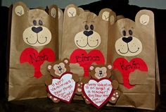 My own creation, Valentine Bear Bags, Valentine's & Romantic Crafts