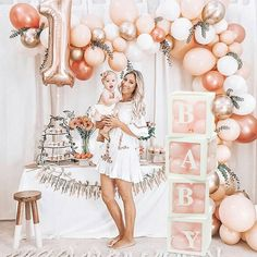 Rose Gold Balloon Garland Kit // Rose Gold Balloon Arch / First Birthday Balloon Arch /Wedding Backdrop/Party Decoration/ Blush/ Rose Gold First Birthday Balloons, Gold First Birthday, First Birthday Parties, Girl Birthday, Birthday Ideas, Moana Birthday, Winter Birthday, Women Birthday, Free Birthday