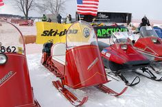 1962 Polaris Sno-Traveler and 1982 Yamaha snomobiles 2008 114 N by Corvair Owner, via Flickr