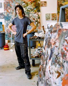 Cecily Brown, born 1969 in London, is a British painter. She has a great respect for art history and her works reveal her reverence and high regard for artists such as Francisco de Goya, Nicolas Poussin, Willem de Kooning, and Joan Mitchell while incorporating into her works her distinct female view point.
