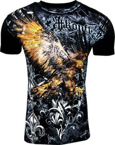 Konflict NWT Men's Striking Eagle Black Graphic Designer MMA Muscle T-shirt!-Black-Small  http://bikeraa.com/konflict-nwt-mens-striking-eagle-black-graphic-designer-mma-muscle-t-shirt-black-small/