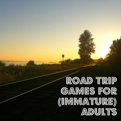 List, instructions, and free printable of road trip games to play with adults! Tons of fun @ www.misslaurenkyle.com