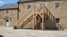 timber fire escape staircase - Google Search