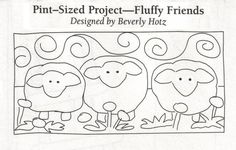Fluffy Friends, as seen in Create & Decorate, July/August 2012. Designed by Beverly Hotz.