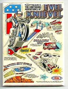 EVEL KNIEVEL Magnet  Magazine Ideal Toy Ad by TheRetronautShop