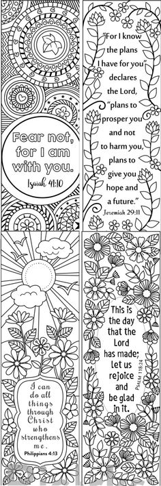 eight bible verse coloring bookmarks
