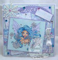 Sending You Snow Whisper Kisses #digitalstamps #coloringpages #fairies