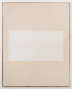 Ethan Cook,  Untitled, 2013, Hand woven cotton canvas and canvas in artist's frame, 50.75 x 40.5 inches