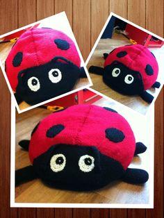Ladybird floor cushion