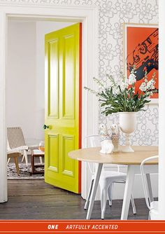 colorful-interior-door-lime-green