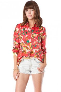 Katrin Floral Blouse by Collective Concepts - ShopSosie.com
