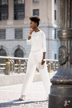 Branco total é tendência!