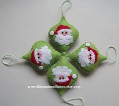 Fieltro Navidad Santa Ornament/Decoration/Bauble.Kawaii