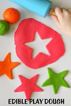 Simple (and EDIBLE) Play Dough - perfect for the kiddos. Takes just minutes to make! Great summer activity.