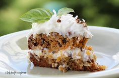 Dreamy Carrot Cake with lemony cream cheese frosting...gluten free!