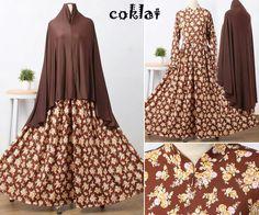 Baju Muslim Gamis Syar'i Nanda Syari Coklat - http://warongmuslim.com/baju-muslim-gamis-syari-nanda-syari-coklat.html