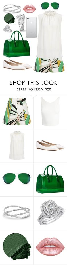 """""""🐊"""" by theodor44444 ❤ liked on Polyvore featuring Emilio Pucci, Sans Souci, Joseph, Jimmy Choo, Victoria Beckham, Furla, David Yurman, Amanda Rose Collection, Lancôme and Lime Crime"""