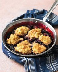 Martha Stewart, Skillet Mixed Berry Grunt: A grunt, sometimes called a slump, is a classic American skillet dessert combining fruit stew and a fluffy dough topping. Whether you're plucking berries at your campsite or at the farm stand, this is a great way to put a variety of the juicy gems to use.
