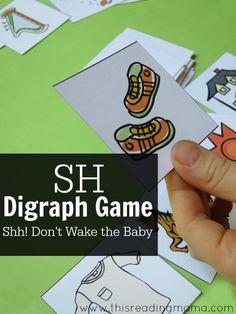 SH Digraph Game - free printable game - This Reading Mama