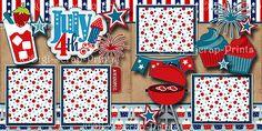 Love Scrapbook, Scrapbook Layout Sketches, Scrapbook Templates, Scrapbook Paper Crafts, Scrapbooking Layouts, Scrapbook Cards, Regional, Paper Piecing, July 4th