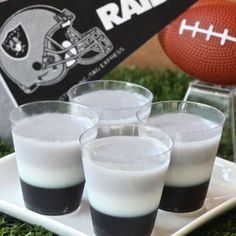 Cheer on the Raiders with festive Jell-O shots.
