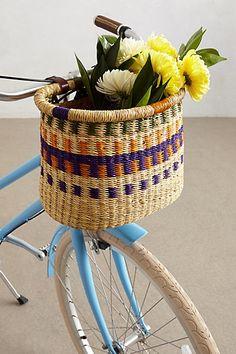 Tonal Weave Bike Basket