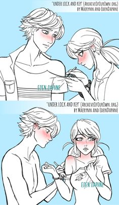 Miraculous Ladybug Comic: Under Lock and Key pg 10 Adrian And Marinette, Marinette And Adrien, Bugaboo, Miraculous Ladybug, Comics Ladybug, Marinette Ladybug, Film Manga, Marinette Dupain Cheng, Cat Noir