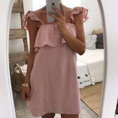 Grace Off the Shoulder Dress - Rose