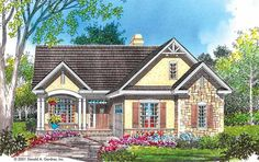 Bungalow Style 1 story 3 bedrooms(s) House Plan with 1682 total square feet and 2 Full Bathroom(s) from Dream Home Source House Plans Cottage Style House Plans, Cottage Style Homes, Dream House Plans, Small House Plans, Cottage House, House 2, Bungalow Floor Plans, Craftsman Style House Plans, House Floor Plans