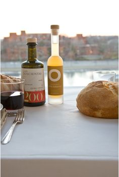olive oil, crusty bread, red wine