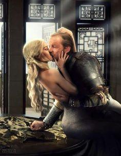 Khaleesi and Sir Jorah