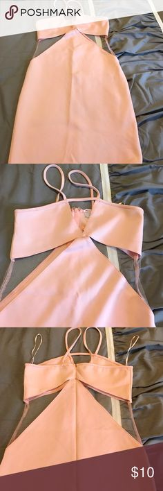 """Peach short dress Short peach color dress from """"Tobi boutique"""" size small. Lace cutout styling on the sides. Good condition Dresses Mini"""