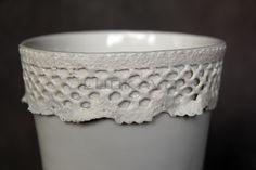 Baroque I.- porcelain decoration by lace Lace Vase, Baroque, Porcelain, Pure Products, Elegant, Luxury, Decoration, Classy, Decor
