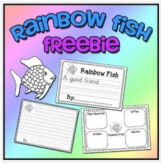Rainbow Fish Freebie - Writing & Story Elements Worksheets by Leticia Gallegos Rainbow Fish Activities, Rainbow Fish Crafts, Ocean Crafts, Kindergarten Literacy, Literacy Activities, Emergent Literacy, Preschool Writing, English Activities, Early Literacy