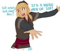 Genderbend Frozen | by juliajm15: Kristal (genderbent kristoff) quick warm up…