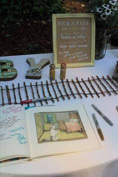 Where the Wild Things Are sign in/guestbook.  Great keepsake for mom and baby!