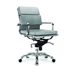 Design Lab MN Century Padded Modern Classic Aluminum Office Chair - Set of 2 (Pack of Office Chairs Walmart, Office Chair Wheels, Office Chair Mat, Office Chair Cushion, Best Office Chair, White Accent Chair, Rocking Chair Cushions, Conference Room Chairs, Single Chair
