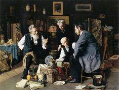 Os especialistas [Connoisseurs], 1890 Louis Moeller (EUA, 1855-1930) óleo sobre tela, 46 x 62 cm