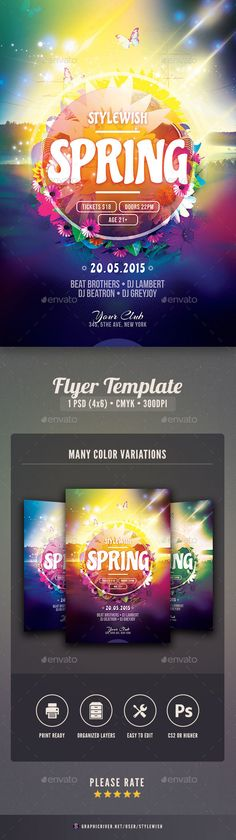 Event Flyers idea Spring Pinterest Ideas, Flyers and Event - spring flyer template
