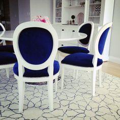 Image result for louis chair blue velvet