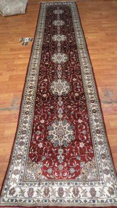 3'x14' Runner Hand-knotted 200 kpsi Silk Oriental Persian Tabriz Rug 9542