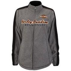 Harley-Davidson Mens Burnt Flames B/&S Full Zip Black Jacket w// Contrast Hoodie