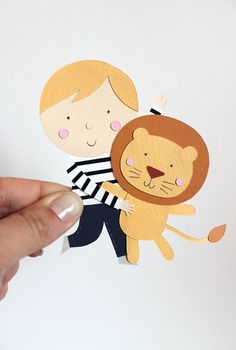 giochi di carta: Paper cut Illustration for baby Friedrich