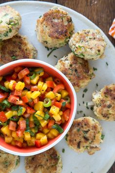 Mini Crab Cakes with Mango Pepper Relish | What's Gaby Cooking